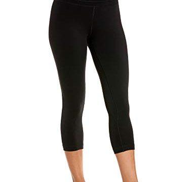 "CRZ YOGA Damen Yoga Capri Leggings Sport Hose mit Hoher Taille-Nackte Empfindung Schwarz 19"" – R418 M40"