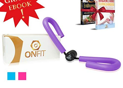 OnFit Oberschenkeltrainer | Premium QUALITÄT| inkl. Trainingshandbuch & Ernährungs eBook! | multifunktional | Heimtrainer mit superweichen Schaumstoff