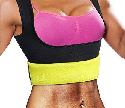 Bingrong Frauen Fitness figurformend Unterbrust Bauchweg Schwitzeffekt