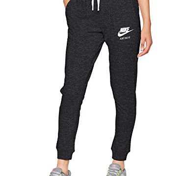 Nike Damen Trainingshose Gym, Schwarz Black/Sail , S