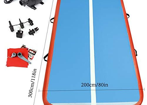 FBSPORT 3M AirTrack Aufblasbar Gymnastikmatte Tumbling Matte Air Bodenschutzmatte für Gym Training Yogamatte Trainingsmatten Weichbodenmatte Turnmatte Fitnessmatte Aufblasbar Tragbar