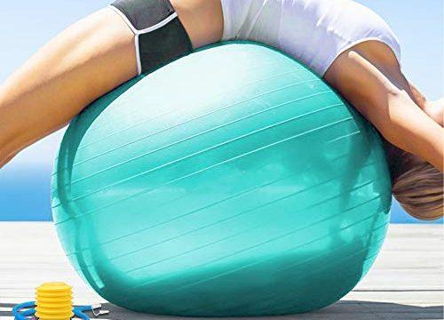 arteesol Gymnastikball 45cm / 55cm / 65cm / 75 cm inkl. Pumpe Anti-Burst Sitzball für Yoga Pilates Fitness Physiotherapie 5 Farben Türkis, 55cm
