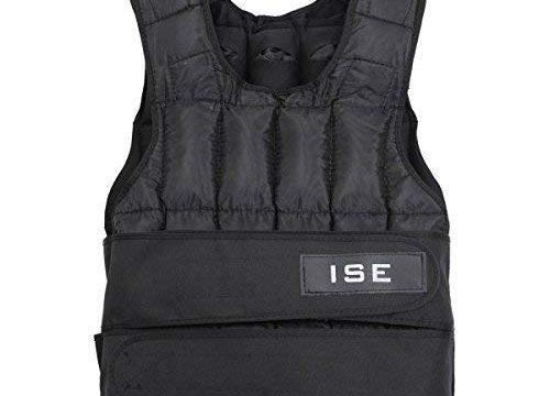 ISE Gewichtsweste Verstellbar von 5 kg 10 kg 15 kg 20 kg 25 kg 30 kg Gewicht Warnwesten für Gewicht Training Krafttraining Übung sy3002 20