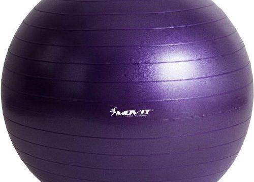 MOVIT Gymnastikball »Dynamic Ball« inkl. Fußpumpe, 85 cm, Violett, Maximalbelastbarkeit bis 500kg, berstsicher, Fitness-Ball, Sitzball, Yogaball, Pilates-Ball, Balance