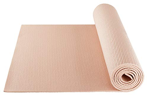 Dicke 5mm – Größe 183x61cm – Schadstoffgeprüft durch SGS frei von Phthalaten, BPA, Schwermetallen – BODYMATE Yogamatte Universal Rose-Gold – Trainings-Matte für Fitness, Yoga, Pilates, Functional