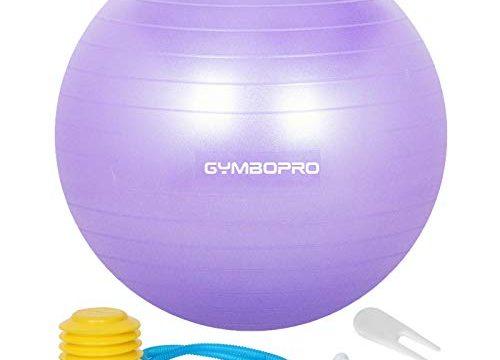 GYMBOPRO Gymnastikball, Yoga Ball Fitnessball mit Pumpa für Yoga, Pilates, Balance Stuhl, Fitness, Stabilitätsbalance, Sitzball Pezziball