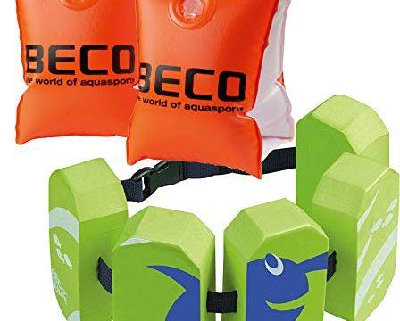 Beco 09703 Schwimmhilfen Doppelkammersystem, Körpergewicht 15 bis 30 kg + Schwimmgürtel grün