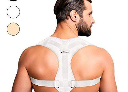 elastisch & atmungsaktiv – Geradehalter für eine gesunde & aufrechte Haltung bei haltungsbedingten Rücken & Nackenschmerzen Weiß, S-M – ZEALactive Haltungstrainer zur Haltungskorrektur