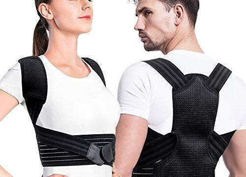 Creatck Upgrade Haltungstrainer, Geradehalter zur Haltungskorrektur Rückenstütze Rückenbandage Haltungstrainer Haltungskorrektur Rücken Verstellbare Rückenstütze für Damen Herren-M