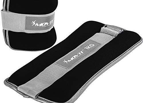 MOVIT® 2er Set Gewichtsmanschetten Neopren mit Reflektormaterial Laufgewichte für Hand- und Fußgelenke 2X 1,0 kg schwarz