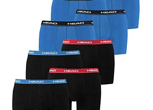 HEAD Men Boxershort 841001001 Basic Boxer 8er Pack, 2x Red/Blue/Black 2x Blau, L