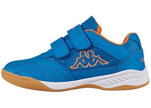Kappa Unisex-Kinder Kickoff Low-Top, Blau 6044 blue/orange, 36 EU