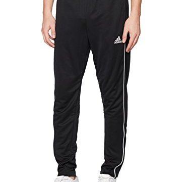 adidas Herren Core 18 Trainingshose, Black/White, XXL