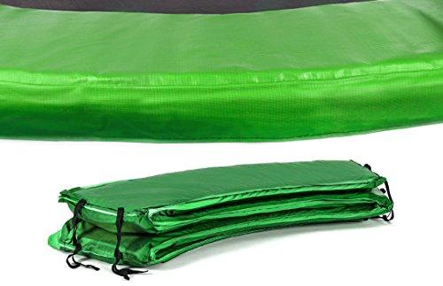 HS HOP-SPORT Trampolinzubehör Ersatzteile für Trampoline: 244, 305, 366, 430, 490 cm Netz Randabdeckung Wetterschutzplane Sprungtuch Feder hochwertige Qualität Randabdeckung 366 cm grün