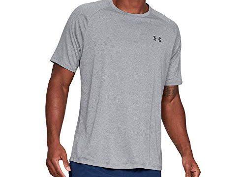 Under Armour Herren Tech 2.0 T-Shirt, Atmungsaktives Sporthemd, Grau Steel Light Heather 036, Large