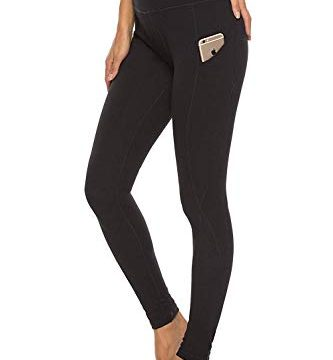 YOUCHAN Leggings Damen Lang Sporthose Laufhose Tights mit Taschen Hohe Taille Blickdichte für Sport Yoga-SCHWARZ-S