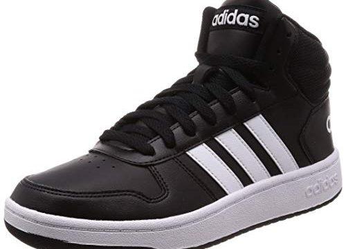 adidas Herren Hoops 2.0 Mid Fitnessschuhe, Schwarz Ftwbla/Negbás 000, 42 2/3 EU