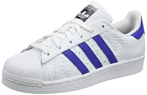 adidas Unisex-Erwachsene Superstar Sneaker, Weiß Footwear White/Bold Blue, 36 EU