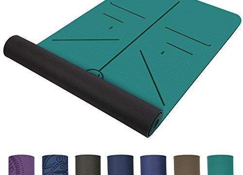 TOPLUS Preumium Yogamatte aus hochwertigen TPE, rutschfest Yogamatte Gynastikmatte Übungsmatte Sportmatte für Yoga, Pilates,Fitness usw.- Grün