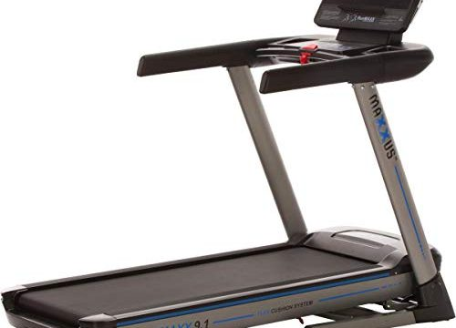 Maxxus Laufband RunMaxx 9.1 elektisch u. klappbar 20 km/h – Heimtrainer 3,0 PS LCD-Display mit Bluetooth APP-Steuerung u. Pulsmessung 15 Steigungen und 154 x 55 cm Lauffläche gedämpft