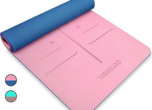 arteesol Gymnastikmatte, Yogamatte rutschfest Phthalatfrei Hypoallergen und hautfreundlich Fitnessmatte für Yoga Pilates Fitness & Gymnastik mit Tragegurt, 183 x 61 cm Pulverblau