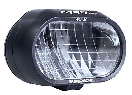 SUPER NOVA Unisex– Erwachsene R-M99MINIP-K-MBLK Fahrradlicht, schwarz, 450-1150 Lumen