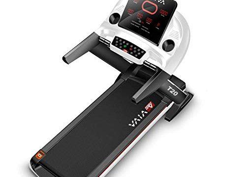 Heimtrainer mit Fitnesscomputer, 15% Steigung elektronisch, 7PS sparsamer Speed-Motor bis zu 20km/h, Pulsempfänger inkl. Brustgurt | Fitnessgerät klappbar – AsVIVA Laufband T20 Cardio Pro Runner