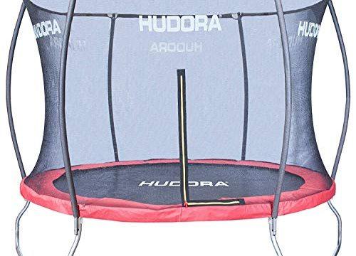 HUDORA Fantastic Trampolin 400 cm – Hochwertiges und sicheres Garten-Trampolin mit Sicherheitsnetz für die ganze Familie, Mehrkarton-Variante
