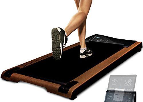 fit und gesund im Büro & zu Hause. Bewegen und ergonomisches Arbeiten, Keine Rückenschmerzen – mit praktischer Tablet-Halterung, Fernbedienung und App – DESKFIT DFT200 Laufband für/unter Schreibtisch