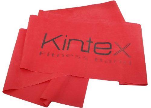 Kintex Gymnastikband Latexband 2.5m x 15cm Fitnessband, Rot mittel