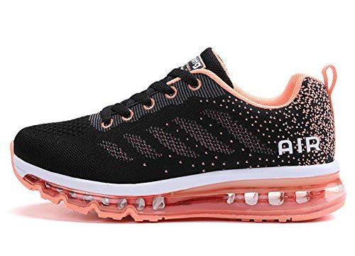 TORISKY Unisex Sportschuhe Herren Damen Laufschuhe mit Luftpolster Turnschuhe Sneakers Air Schuhe Trainer Leichte Profilsohle(833-Pink40)
