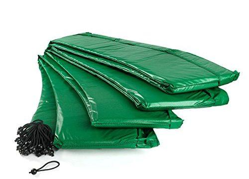 Ampel 24 Trampolin Randabdeckung, passend für Trampolin Ø 460 cm, Federabdeckung reißfest und UV-beständig, Schutzrand grün