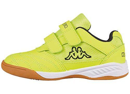 Kappa Unisex-Kinder Kickoff Hallenschuhe, Gelb Yellow/Black 4011, 34 EU