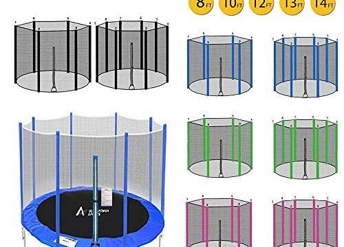 ULTRAPOWER SPORTS Trampolinzubehör Ersatznetz Sicherheitsnetz für Trampolin | Ø 244 | 6 Stangen | UV-beständig | Extrem Reißfest Trampolinnetz Grün