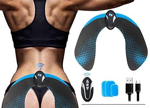 ROOTOK EMS Hips Trainer,EMS Trainingsgerät,6 Models 10 Wähle der Intensität,Drahtlose Fernbedienung USB Schnellladung