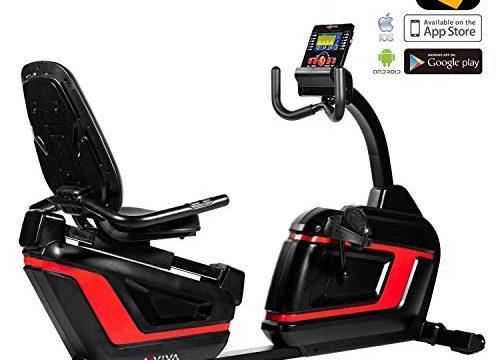 AsVIVA R7 Liegeergometer Recumbentbike Bluetooth mit App Steuerung, Handpulssensoren, integrierter Pulsempfänger + inklusive Brustgurt, 16 computergesteuerte Stufen, ergonomischer Sitz mit Rückenlehne