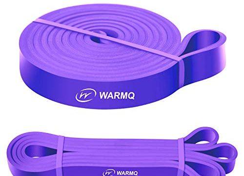 WARMQ Fitnessbänder Widerstandsbänder einzelner Klimmzugband für Muskelaufbau Yoga und Gymnastik Pull Up Trainingsband mit höher Elastizität ideal als Unterstützung lila 35-85lbs