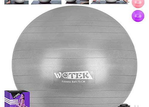 Gymnastikball Sitzball Pilates Anti-Burst 65cm/75cm,Dicker Explosionsgeschützter Pilates Ball mit Pumpe,300KG für Yoga, Fitness,Heim, Büro,sitzball,schwangere Frau Gymnastikball und Balance Stuhl