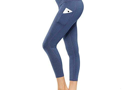HMIYA Damen Leggings, Lang Frauen Sporthose Yogahose Laufhose FitnesshoseBlau Lila,XS