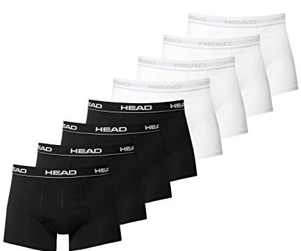 HEAD Men Boxershort 841001001 Basic Boxer 8er Pack, 4x Black 4x White, XL