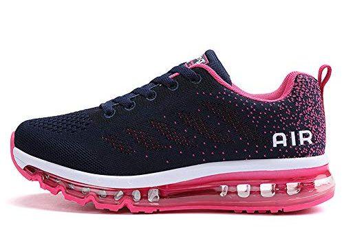 TORISKY Unisex Sportschuhe Herren Damen Laufschuhe mit Luftpolster Turnschuhe Sneakers Air Schuhe Trainer Leichte Profilsohle(833-Rose40)