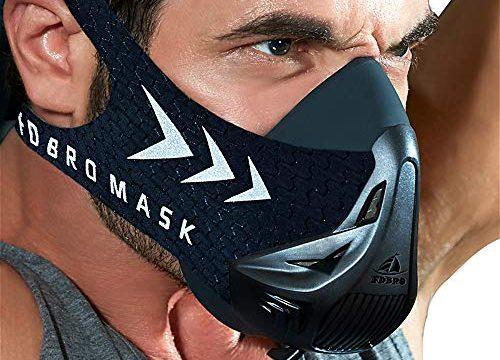High-Altitude-Endurance-Maske erhöht die Kraft, Laufwiderstand Atemmaske mit Tragetasche Schwarz, L – FDBRO Trainingsmaske Workout Maske-