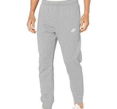 Nike Herren M NSW Club JGGR BB Sport Trousers, dk Grey Heather/Matte Silver/White, L
