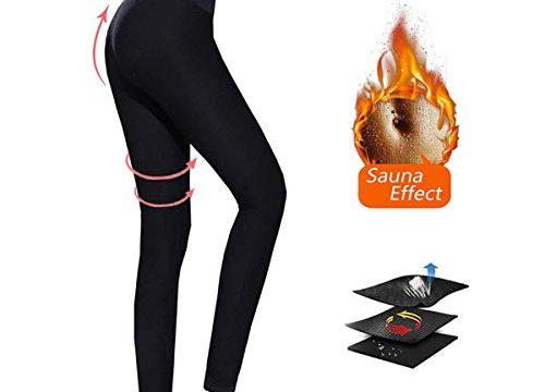 Moonssy Gewichtsverlust Hosen Sauna Hosen, Schwitzhose für Frauen Fettverbrennung, Womens abnehmen Hosen Hot Thermo Neopren Sweat Sauna