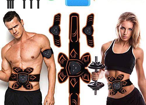 PiAEK Muskelstimulation Elektrostimulation ABS StimulatorTrainingsgerät, EMS Muskelstimulator Elektrische Bauchmuskeltrainer Fitness Geräte USB Aufladung für Herren und Damen