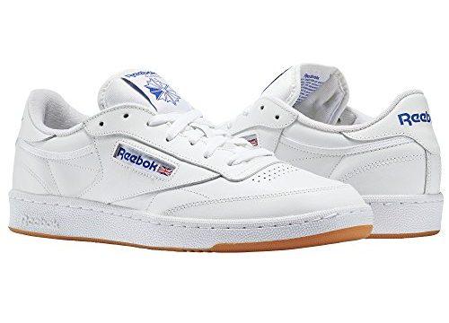 Reebok Jungen Club C 85 Fitnessschuhe, Weiß Int/White/Royal/Gum 000, 36 EU