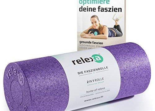 relexa® 35cm 2in1 Faszienrolle lila