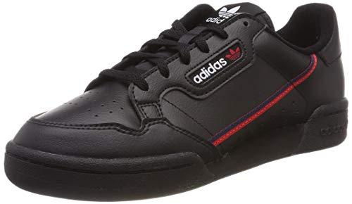 adidas Unisex-Erwachsene Continental 80 J Fitnessschuhe, Schwarz Core Black/Scarlet/Collegiate Navy 0, 38 2/3 EU